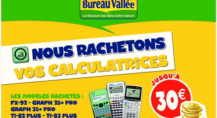 kakémono rachat de calculatrices